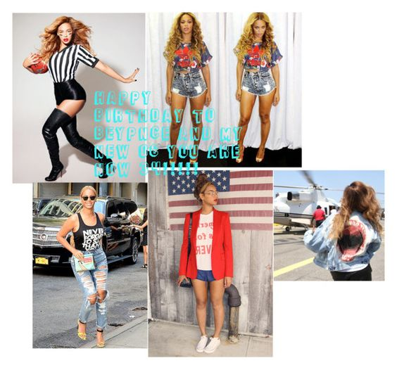 """HAPPY BIRTHDAY TO BEYONCE AND MY NEW OC AVA"" by wweajfan4life ❤ liked on Polyvore featuring mode, Beyonce et happybirthday"