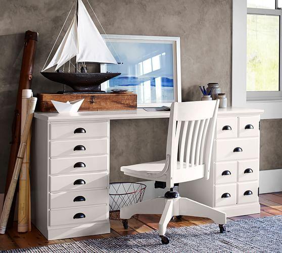 Printer 39 s rectangular desk set pottery barn house for Pottery barn printer s desk reviews