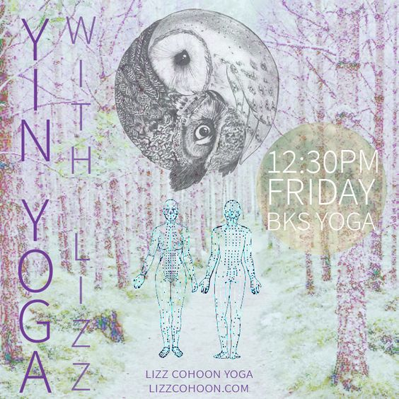 Yoga Class Promo. Yin Yoga. Meridians. Moon. Yin Yang. Forest. Digital Collage. Graphic Design. Creativity. Muse.