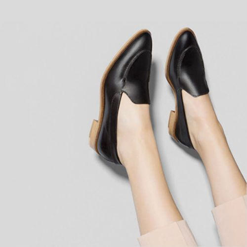 toe leather shoes | Loafers