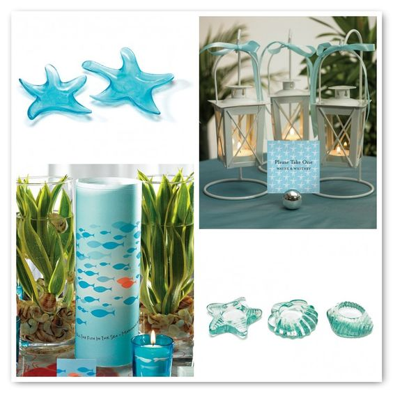 Beach Wedding Ideas On A Budget: Starfish, Glass Candle And Centerpieces On Pinterest