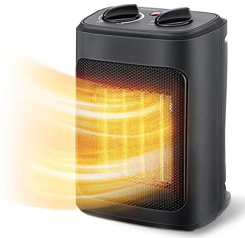 Amazon Com Space Heater 1500w Electric Heaters Indoor Portable With Thermostat Ptc Fast Heating Ceramic Room Sma In 2021 Small Heater Space Heater Electric Heaters Best space heater for bedroom