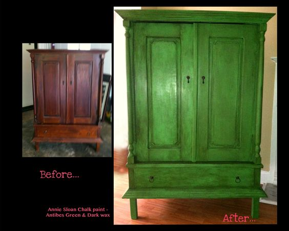 Red Chalk Paint Hutch