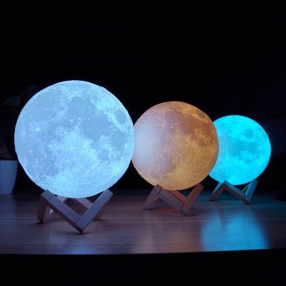 3d Printed Moon Lamp In 2020 Moon Globe Decor Gifts Night Light
