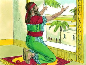Free Bible illustrations at Free Bible images of Daniel being thrown into the lions' den after refusing to stop praying to God. (Daniel 6:1-28): Slide 7