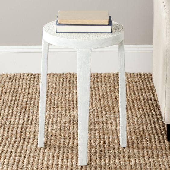 Safavieh Klein Side Table, White