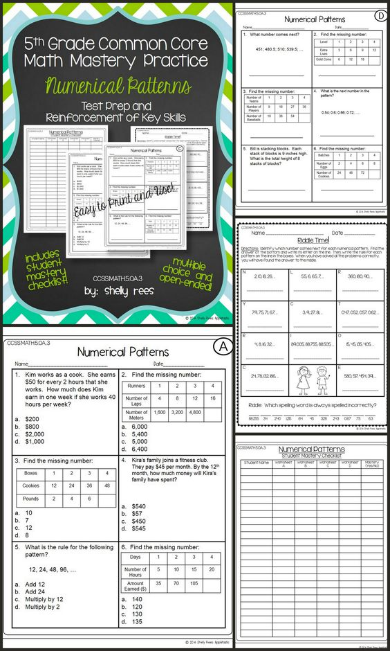 Math worksheets 5th grade common core