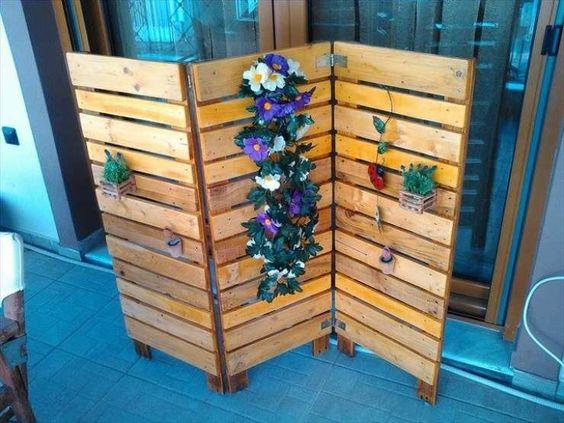 12 cr ations magnifiques de meubles avec des palettes en bois - Fabriquer un paravent ...