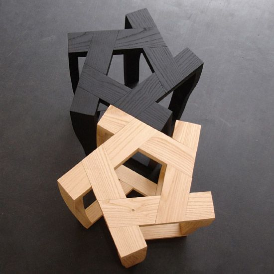 For His Pentagon Table And Stools Israeli Designer Itamar