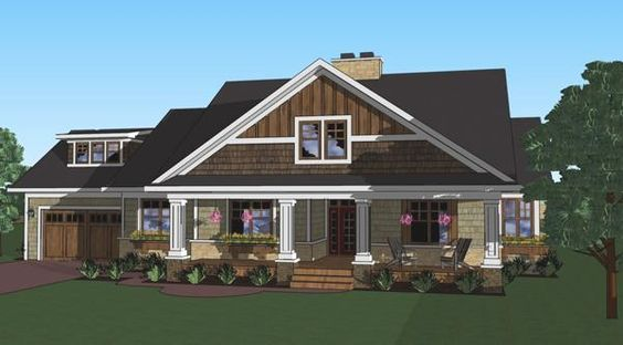 Square feet craftsman and house plans on pinterest for How big is a two car garage square feet