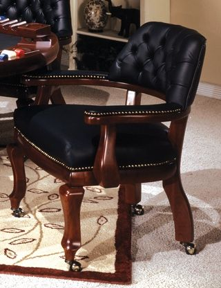 The I.M. David 8339 caster arm chair is hand made by craftsmen right here in the USA. The detail and workmanship that goes in to making this chair is second to none.