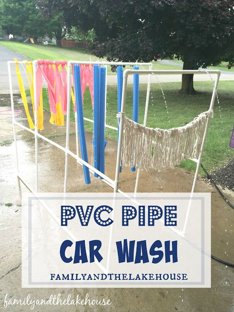 PVC Pipe car wash for kids!!!: