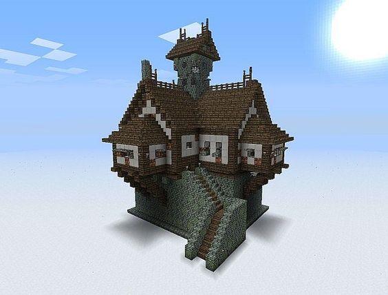Medieval minecraft pinterest maison minecraft et for Minecraft maison design