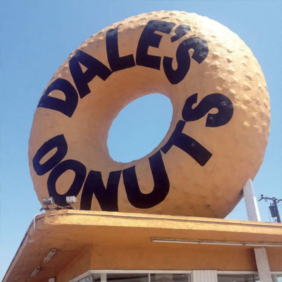 Dale's Donuts • Compton, CA: American Signage, Logos Signage, Graphic Signs, Vintage Signs, Donuts, Architecture Teapots, Graphics Logos