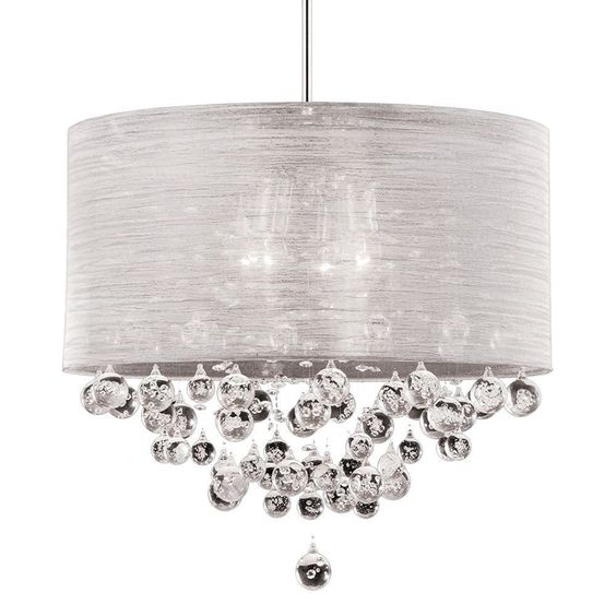 Drum Shade Crystal Chandeliers And Ceiling Lights On
