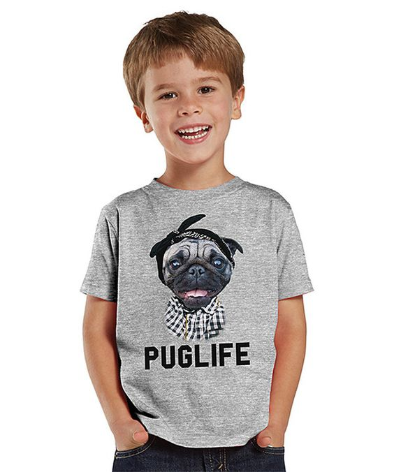 Look at this Gray 'Pug Life' Tee - Toddler & Boys on #zulily today!