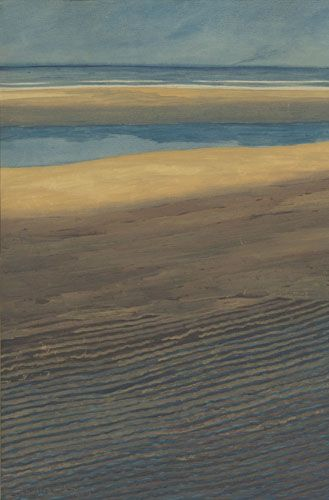 Léon Spilliaert, La plage à marée basse (1909)