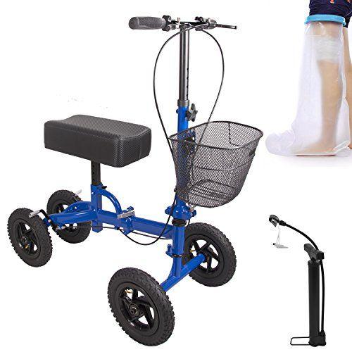 Steerable Knee Roller Walker Crutch Alternative Knee Scooter 4
