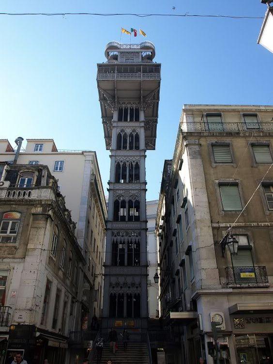 Elevator: elevador de santa justa, Lisbon, Portugal