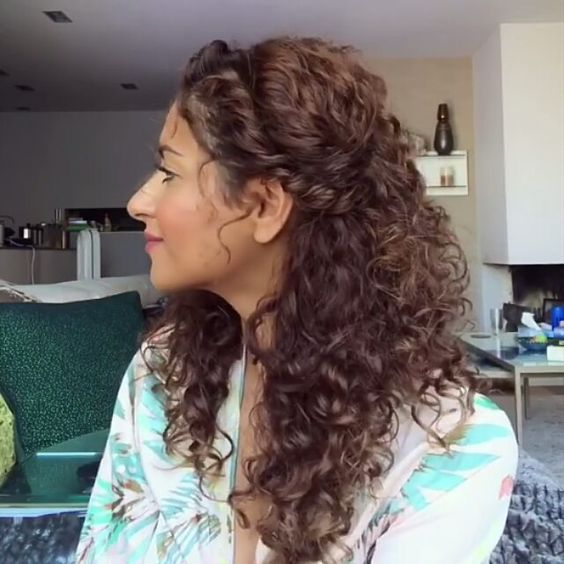 Peinados Cabello Chino Largo