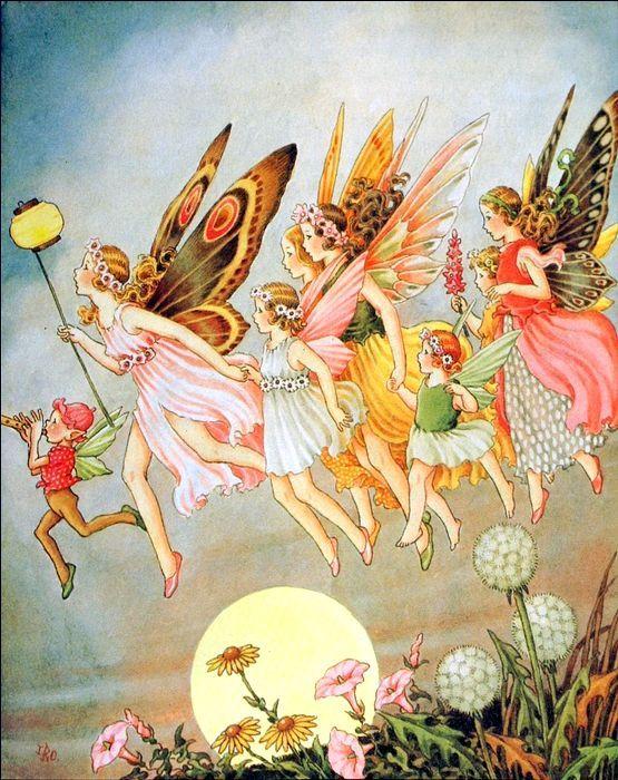 Ida Rentoul Outhwaite  1888-1960  ~  Fairy Processional: