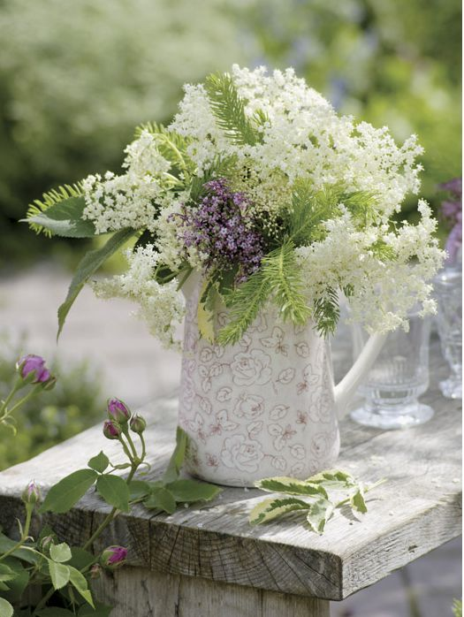 Beautiful bouquet in white and pale sage
