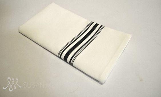 black-on-white bistro stripe napkin