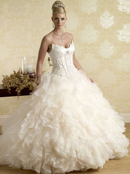 cheap satin princess wedding dress Elegant Collection Of Cheap ...