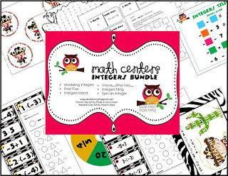 integer activity bundle and a freebie