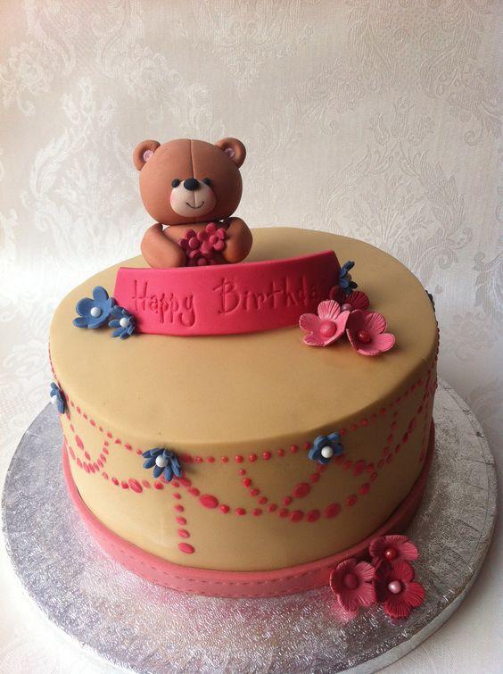 Teddy Bear Topper Wedding Cake Ideas