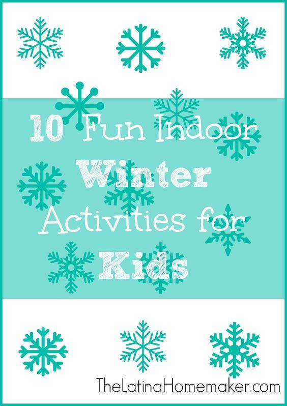 10 Fun Indoor Winter Activities for Kids #family