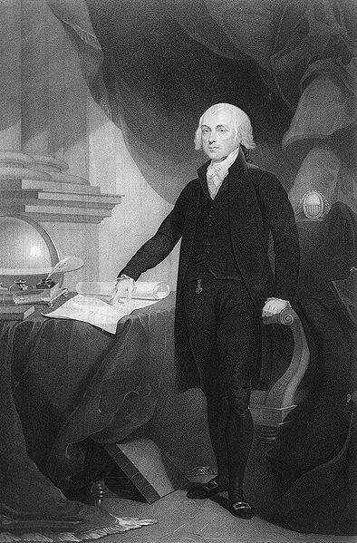 James Madison, engraving by David Edwin, circa 1809-1817 (US Library of Congress)