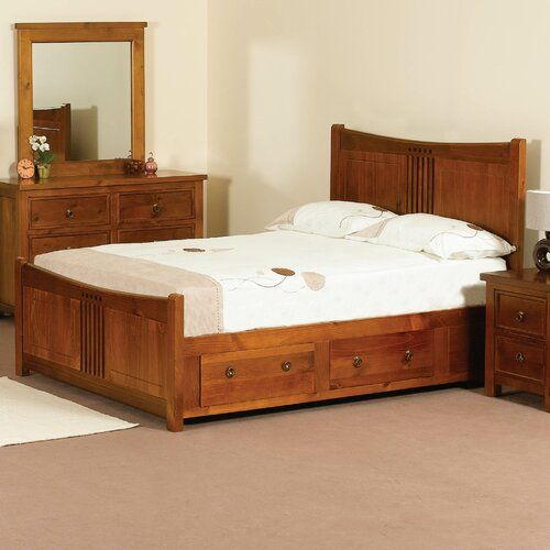 King Size Bed With Storage Drawers Underneath The Best Practical Choice For Your Home Goodworksfurnit In 2020 Wooden King Size Bed King Size Bed Frame Oak Bed Frame