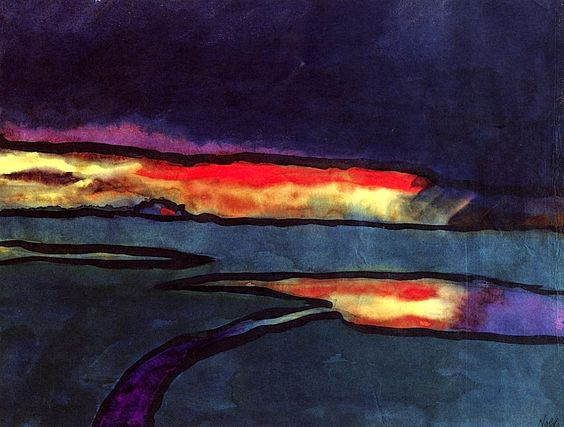 EMIL NOLDE Sunset (c.1925):