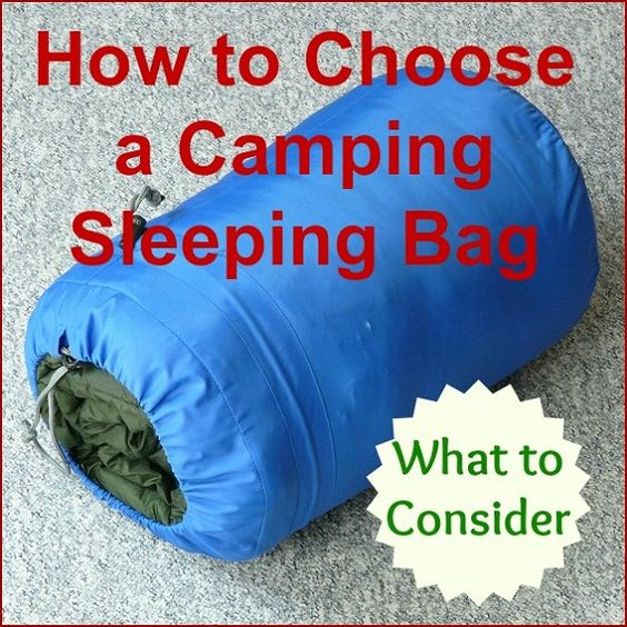 How to choose a camping sleeping bag