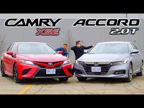 2019 Toyota Camry Xse Vs Honda Accord 2 0 Touring Battle For Best Mid Size Sedan Youtube Mid Size Sedan Toyota Camry Camry