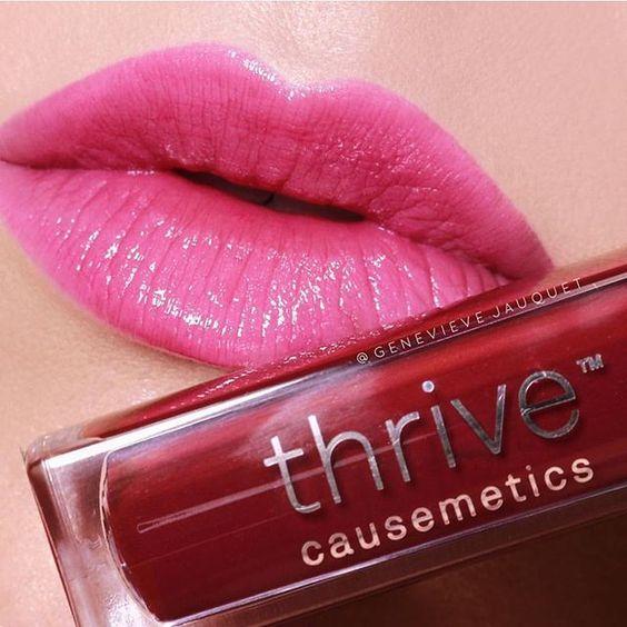 Pink glossy lip