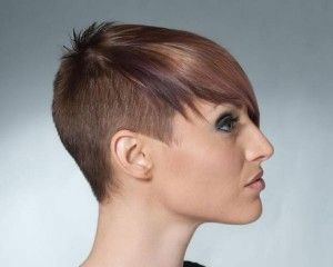 Undercut and Sidecut short hairstyles 2014