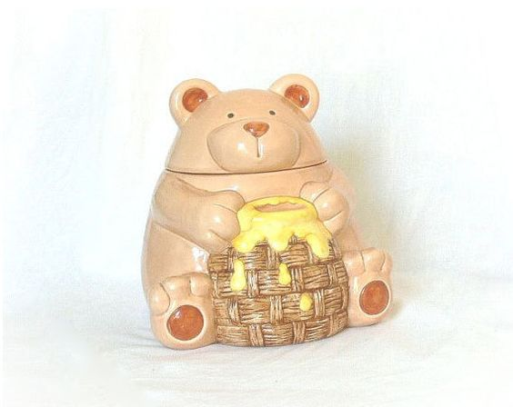 Vintage 70s Cookie Jar Honey Bear Pot at PaddywhackKnickKnack, $32.00