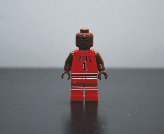 DERRICK ROSE Chicago Bulls Custom Basketball LEGO by MiniMenCo, $28.99