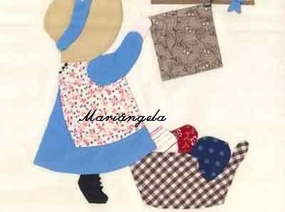 RISCOS DE BONEQUINHAS PARA PATCHWORK- SUNBONNET SUE - Mariangela - Álbumes web de Picasa
