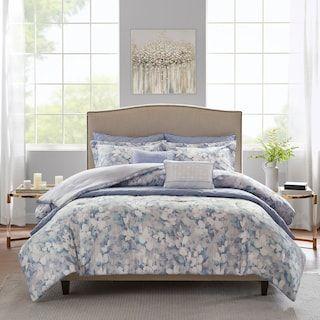 Madison Park Zinnia 8 Piece Comforter Set Kohls In 2020 Comforter Sets Coverlet Set Floral Comforter Sets