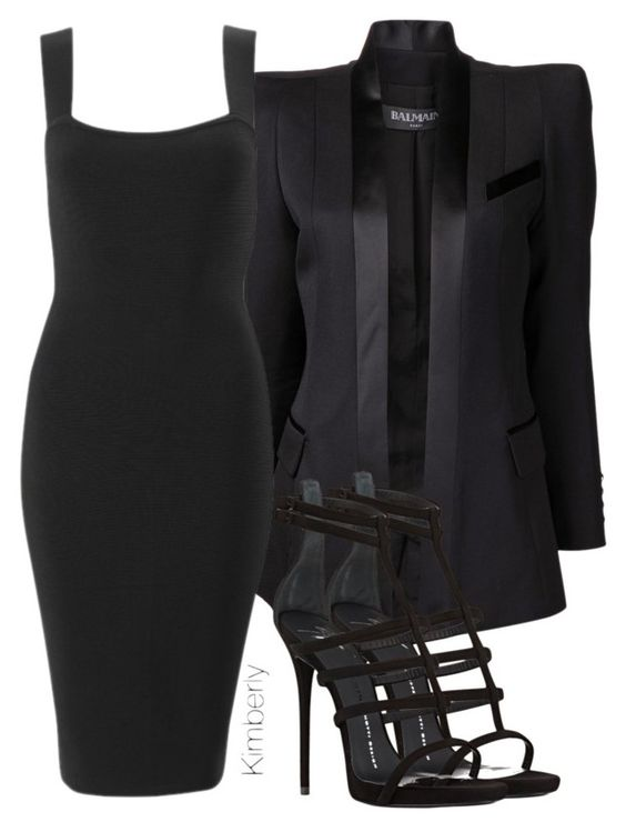 """""""Untitled #1355"""" by whokd ❤ liked on Polyvore featuring Balmain and Giuseppe Zanotti"""
