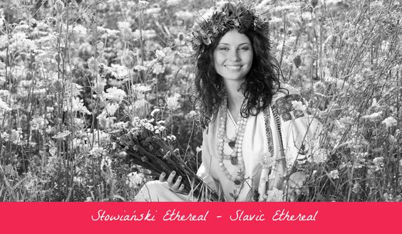 Slavic Ethereal. One of 18 beauty types created by GretaKredka. Draws inspiration from Slavic folk costumes, embroideries, distinct flower patterns, contrast dependent on other Ethereals, long hair. Color essence: gradating from Light Spring and Light Summer to Bright Winter and True Winter.