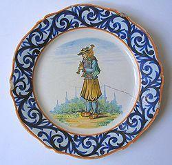 Antique Quimper faience platter
