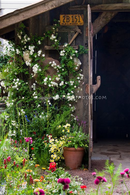 Rustic gardens garden sheds and license plates on pinterest - Rustic flower gardens ...