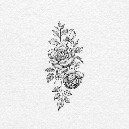 White Background Tattoo For Man And Woman Rose Flower Tattoos