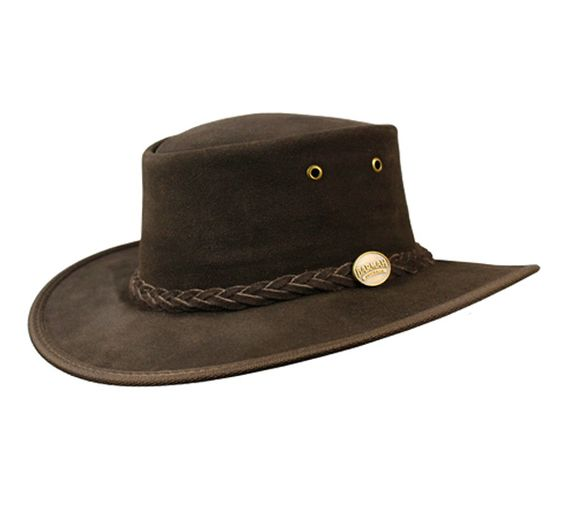 The Squashy Suede hat from Barmah - Cattle hide suede leather - Original Aussie Bush hat - Foldaway - comes in its own