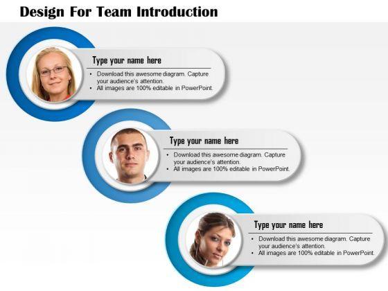 Professionally Designed Visually Stunning Business Diagram Design For Team Introduction Presentation Templa Powerpoint Slide Templates Diagram Design Design
