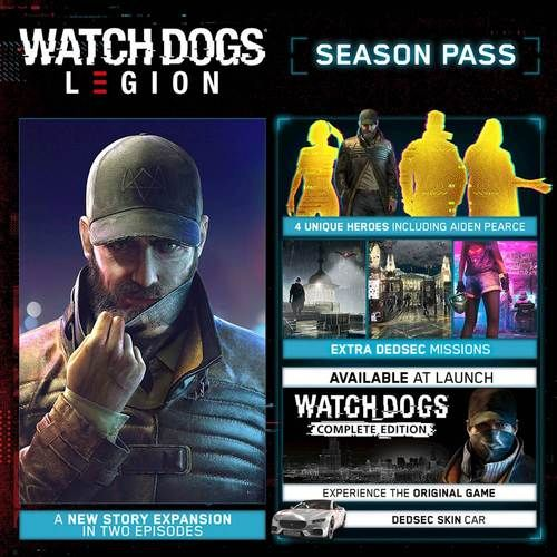 Watch Dogs Legion Season Pass Xbox One Xbox Series X Digital 7d4 00565 Best Buy In 2021 Xbox One Watch Dogs Legion